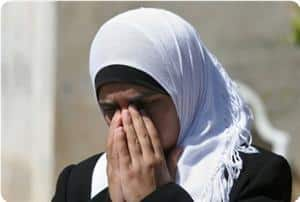 crying palestinian