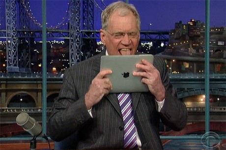 david letterman tongue