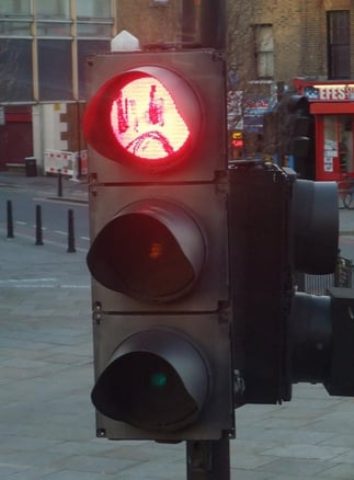 evil traffic light