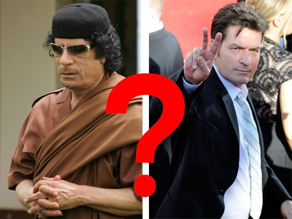 gaddafi sheen