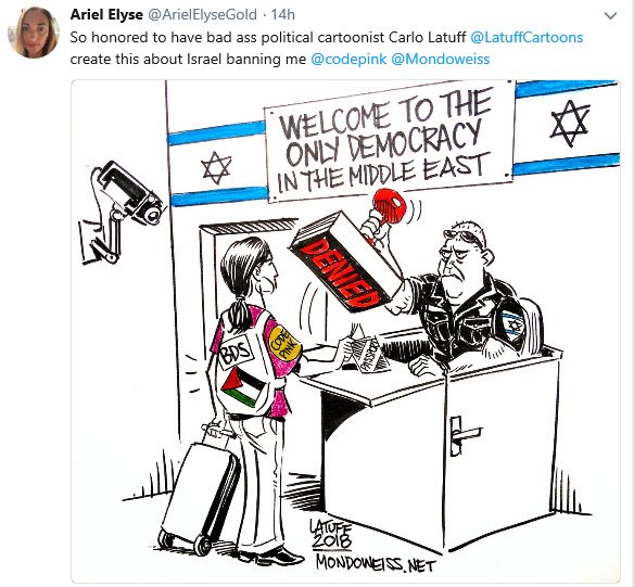 """Ariel Gold """"Honored"""" to Have Antisemite Create Cartoon About Her"""