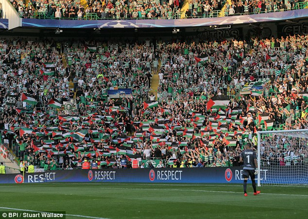 hapoel beer sheva celtic palestinian flags 01