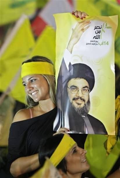 hot Hizbullah supporter