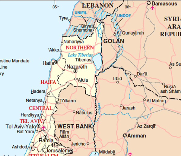 Official United Nations Map of Israel Has No National Capital