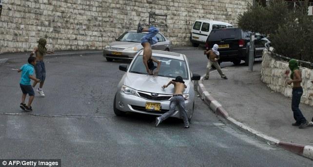 israeli car hit palestinian