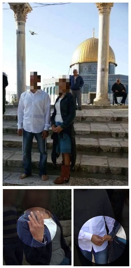 This Jewish couple were forced to conduct their wedding in secret at Judaism's holiest site. (Photo Credit: Facebook)