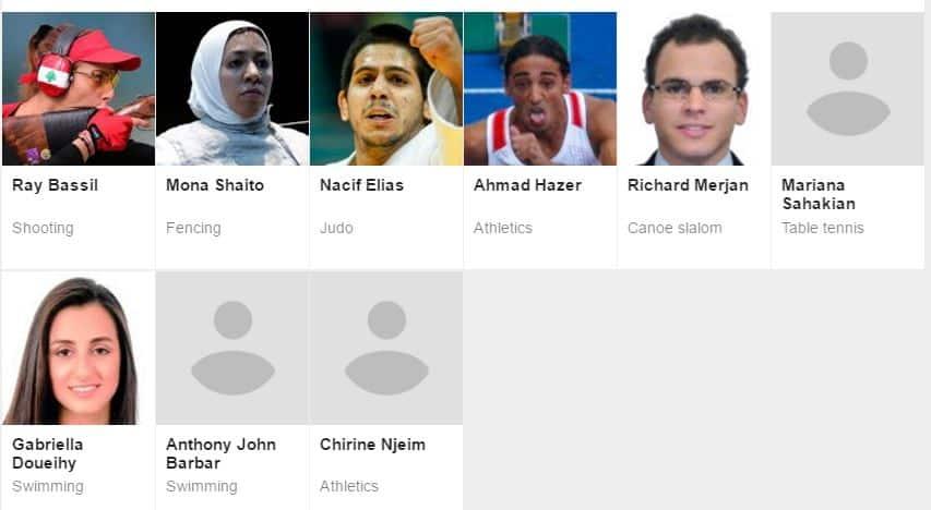 lebanon olympics team