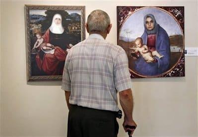 Madonna Jesus terrorist painting - AP