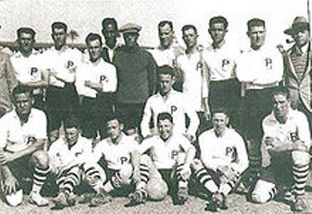 Palestine football team during the tour in Egypt in 1930