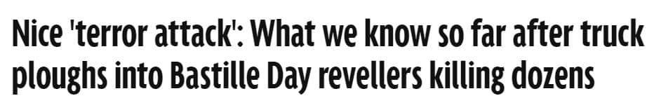 mirror headline