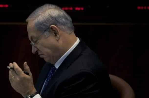 Binyamin Netanyahu angry