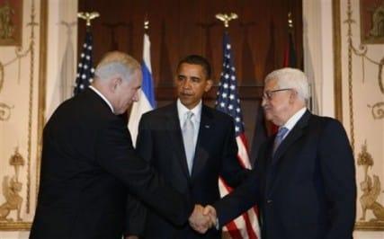 obama abbas netanyahu - AP