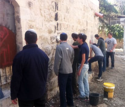 Exclusive: Settler Youth Caught Defacing Mosque