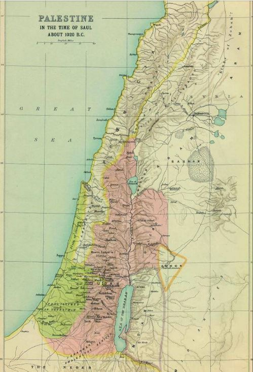 palestine king saul