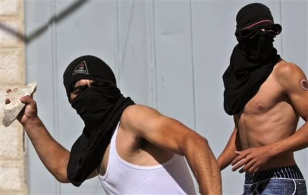 Palestinian protesters AP