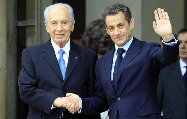 Shimon Peres Nicolas Sarkozy
