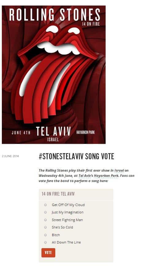 rolling stones vote