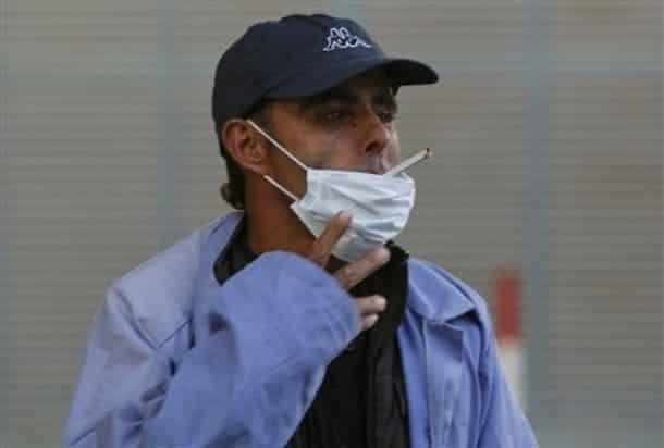 Smoking palestinian - AP