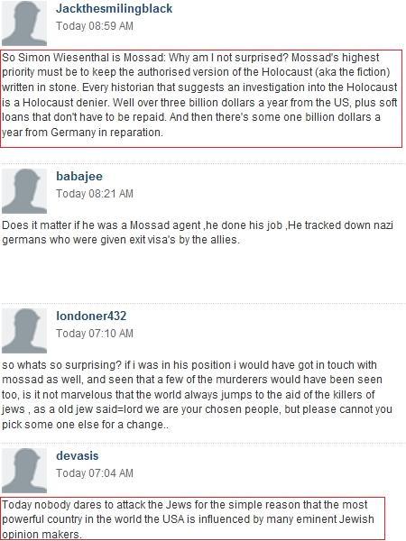 telegraph comments