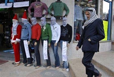 Palestinian Santa mannequin