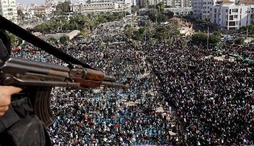 Gaza terror rally