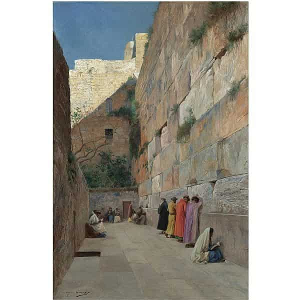 The Wailing Wall by Eugene Alexis Girardet, 1898