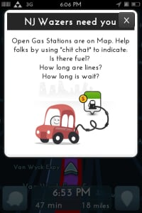 Waze in Sandy recovery efforts