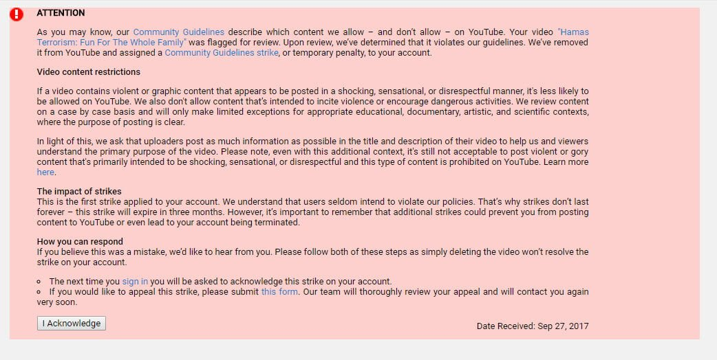 YouTube Backs Down Against Israellycool YouTube Channel, For